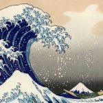 Sous la grande vague d'Hokusai avec un regard d'enfant