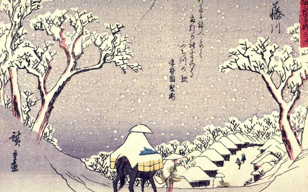 hiroshige-fujikawa-winter-scene-ukiyoe-1920x1200