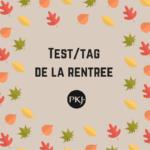 Test/tag de la rentrée