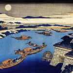 images pour le plaisir des yeux #11 ~ Hokusai et la lune d'Osaka