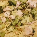 Tagliatelles brocoli, poulet, thym citron