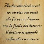 filastrocca – Ambarabà ciccì coccò